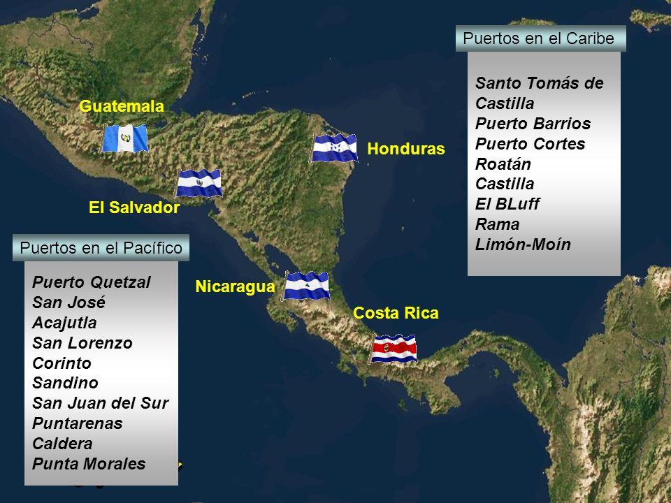 Puerto Quetzal San José Acajutla San Lorenzo Corinto Sandino San Juan del Sur Puntarenas Caldera Punta Morales Puertos en el Pacífico Santo Tomás de C