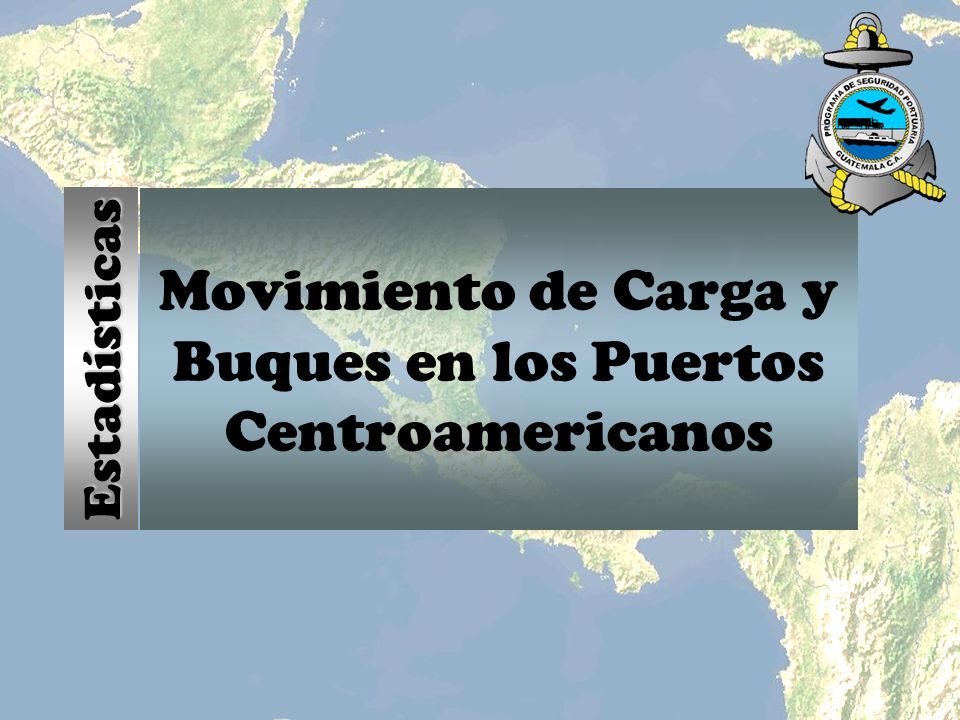 Carga Manipulada En Puertos Centroamericanos Año 2002 57 Millones de toneladas métricas movilizadas 61% en operación de desembarque y 39% en operación de embarque Los puertos de Istmo centroamericano mantuvieron el volumen de carga manejada en el año 2002 respecto al año 2001.