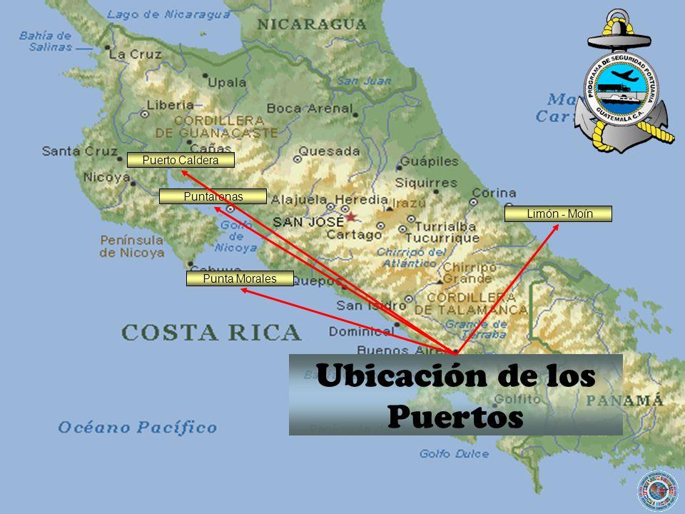 Puerto Caldera Ubicación de los Puertos Punta Morales Limón - Moín Puntarenas