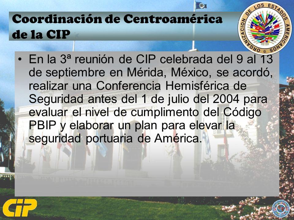 Coordinación de Centroamérica de la CIP En la 3ª reunión de CIP celebrada del 9 al 13 de septiembre en Mérida, México, se acordó, realizar una Confere