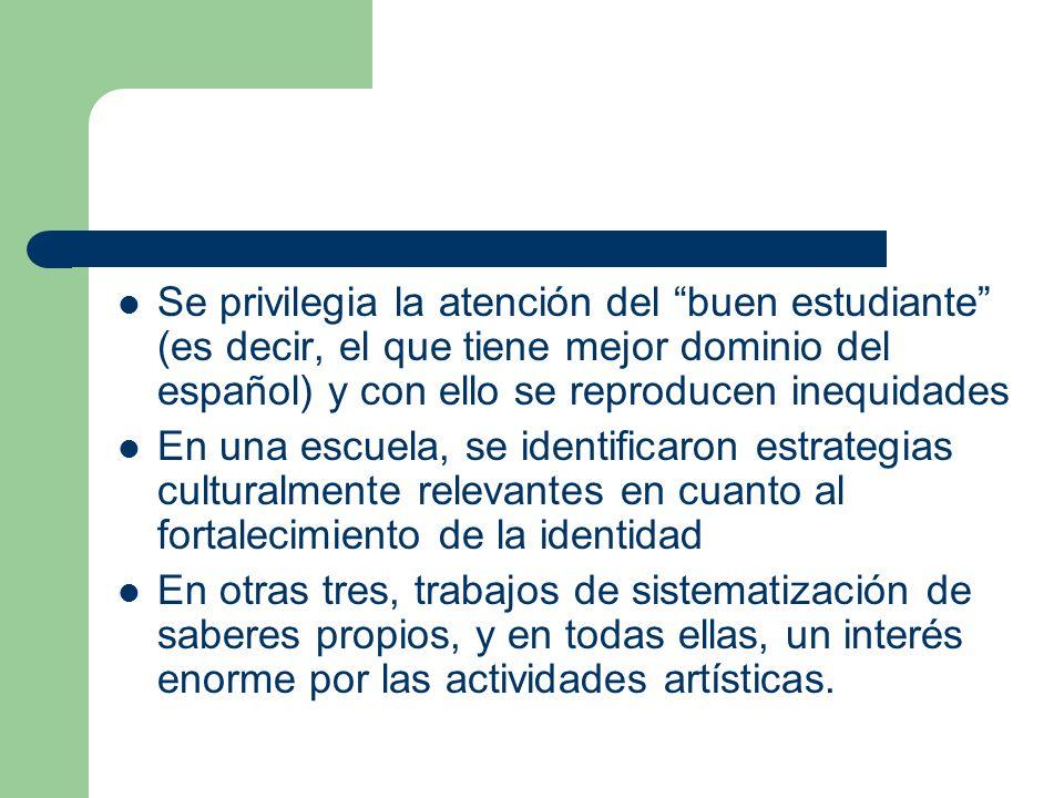 Se privilegia la atención del buen estudiante (es decir, el que tiene mejor dominio del español) y con ello se reproducen inequidades En una escuela,