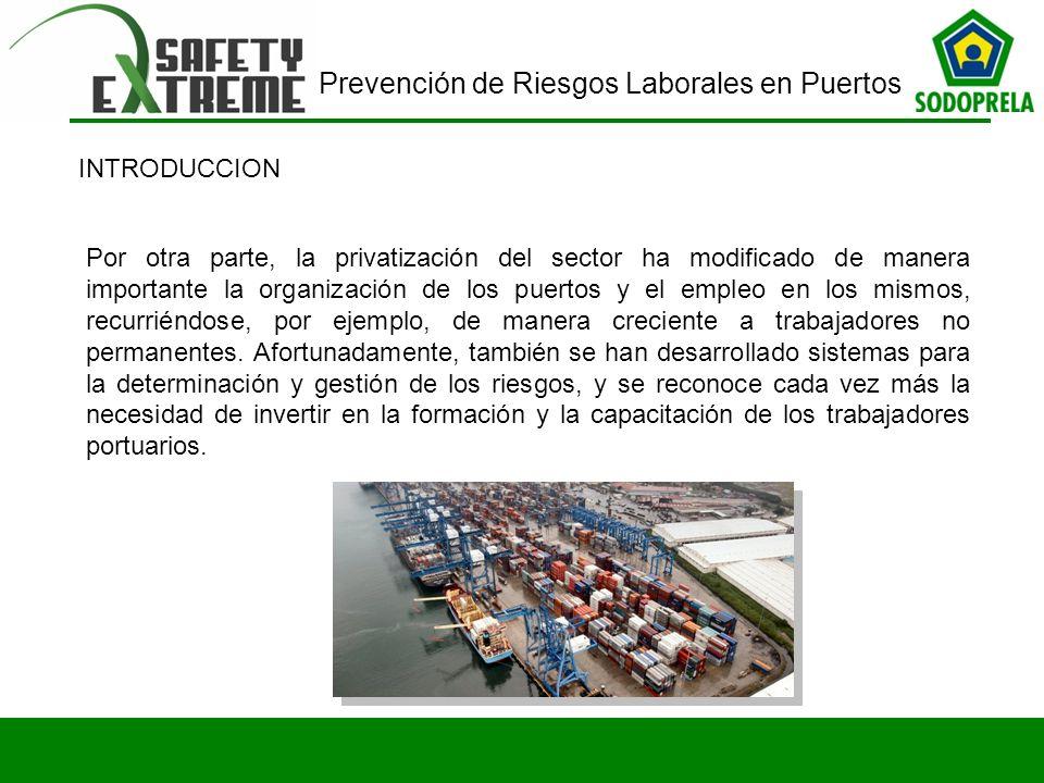 Prevención de Riesgos Laborales en Puertos Por otra parte, la privatización del sector ha modificado de manera importante la organización de los puert