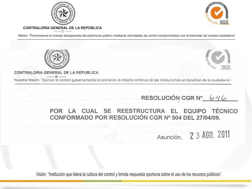 FUNCIONAMIENTO DEL COMITÉ DE CONTROL INTERNO No se hallaron respaldo documentado de las reuniones del Comité de Control interno El Equipo Técnico reactivó las reuniones y estableció los lineamientos a través de un Reglamento.