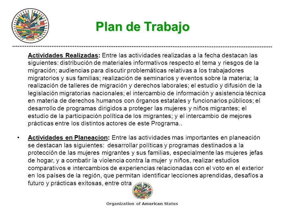 Plan de Trabajo Actividades Realizadas: Actividades Realizadas: Entre las actividades realizadas a la fecha destacan las siguientes: distribución de m