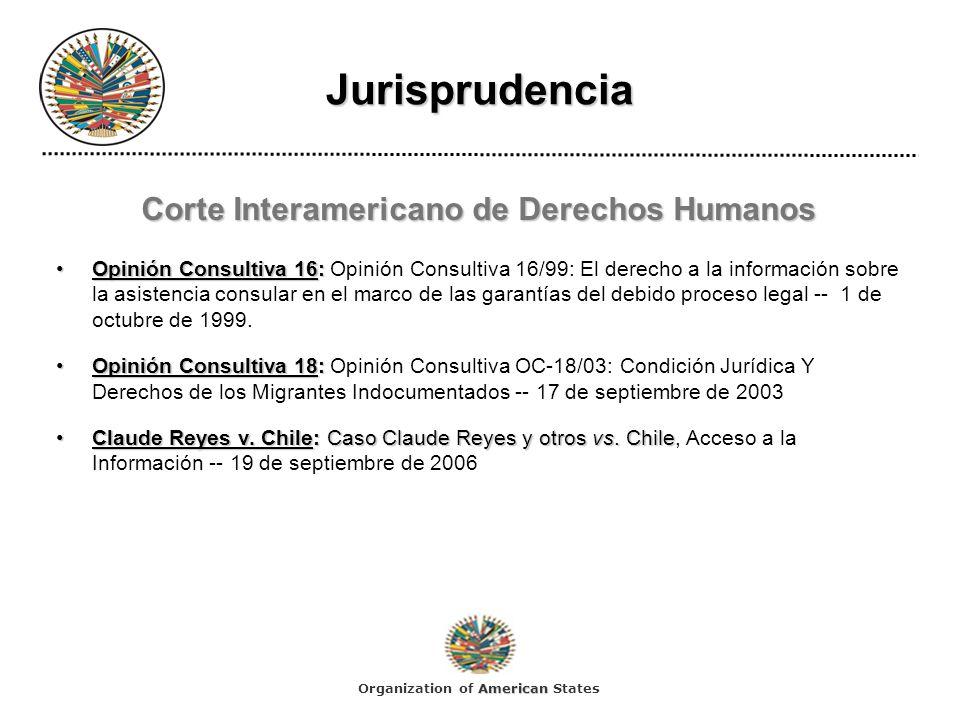 Jurisprudencia Corte Interamericano de Derechos Humanos Opinión Consultiva 16:Opinión Consultiva 16: Opinión Consultiva 16/99: El derecho a la informa