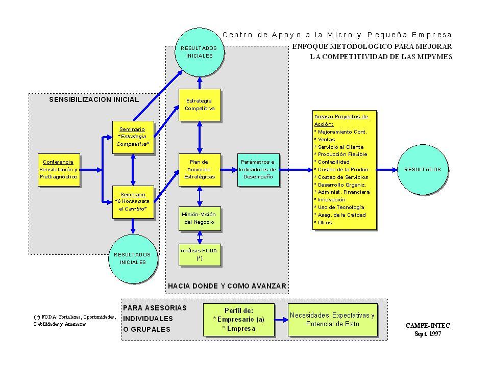 Algunos Logros del CAMPE desde enero 1997: Programa de Asistencia Técnica u Se logró trabajar en 17 entidades, que incluye a 10 empresas y 7 ONG.