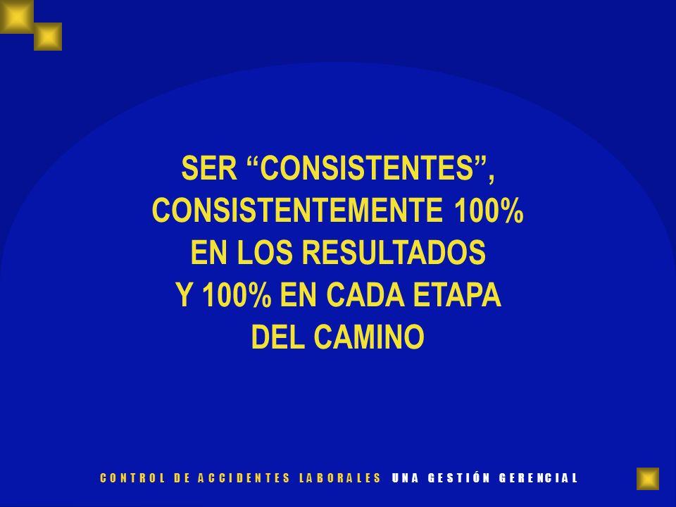 SER CONSISTENTES, CONSISTENTEMENTE 100% EN LOS RESULTADOS Y 100% EN CADA ETAPA DEL CAMINO