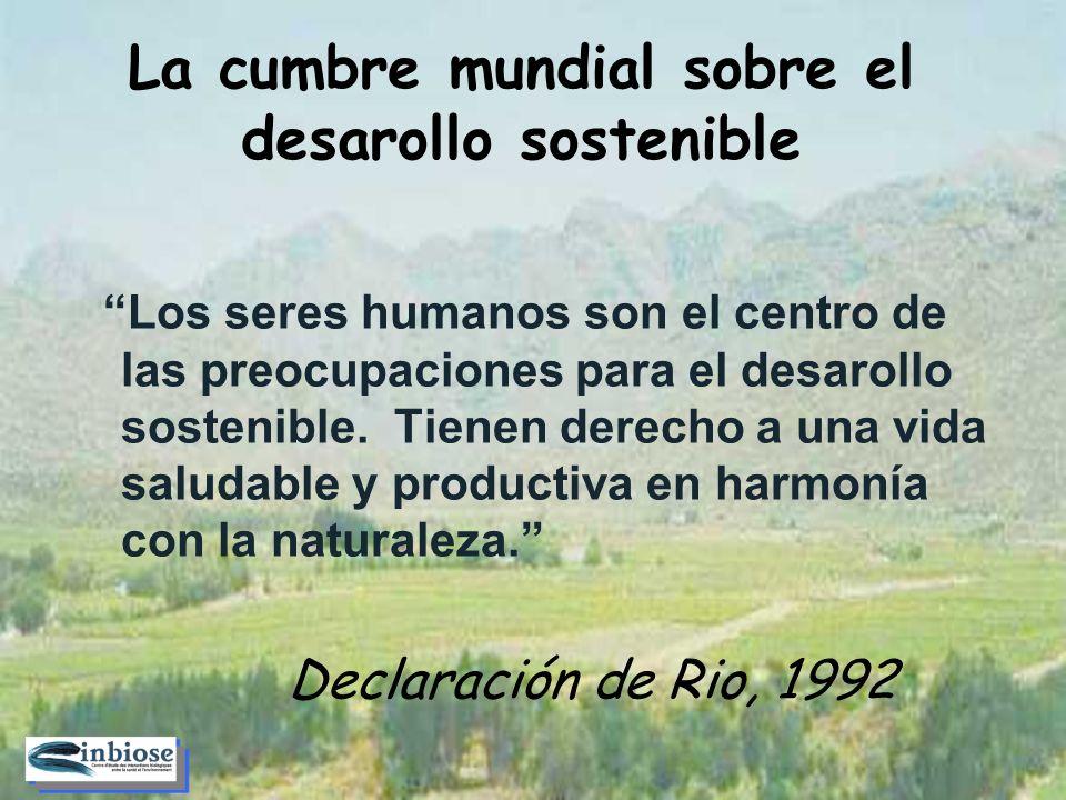 Los seres humanos son el centro de las preocupaciones para el desarollo sostenible.