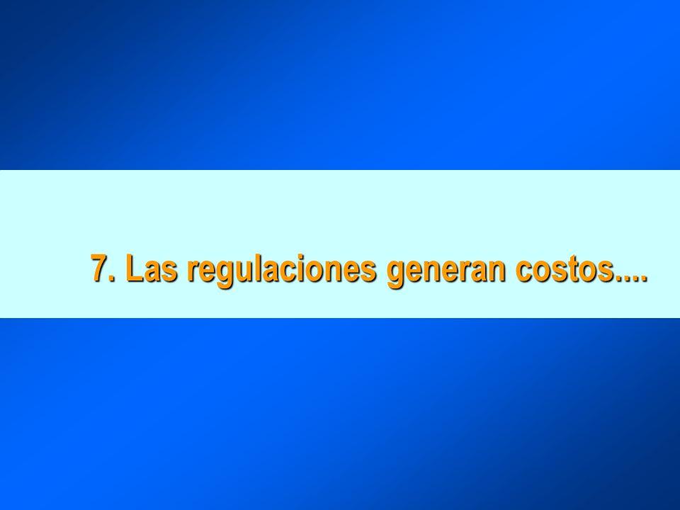 7. Las regulaciones generan costos....