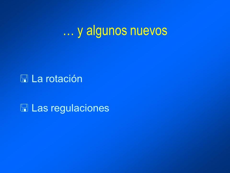 … y algunos nuevos < La rotación < Las regulaciones