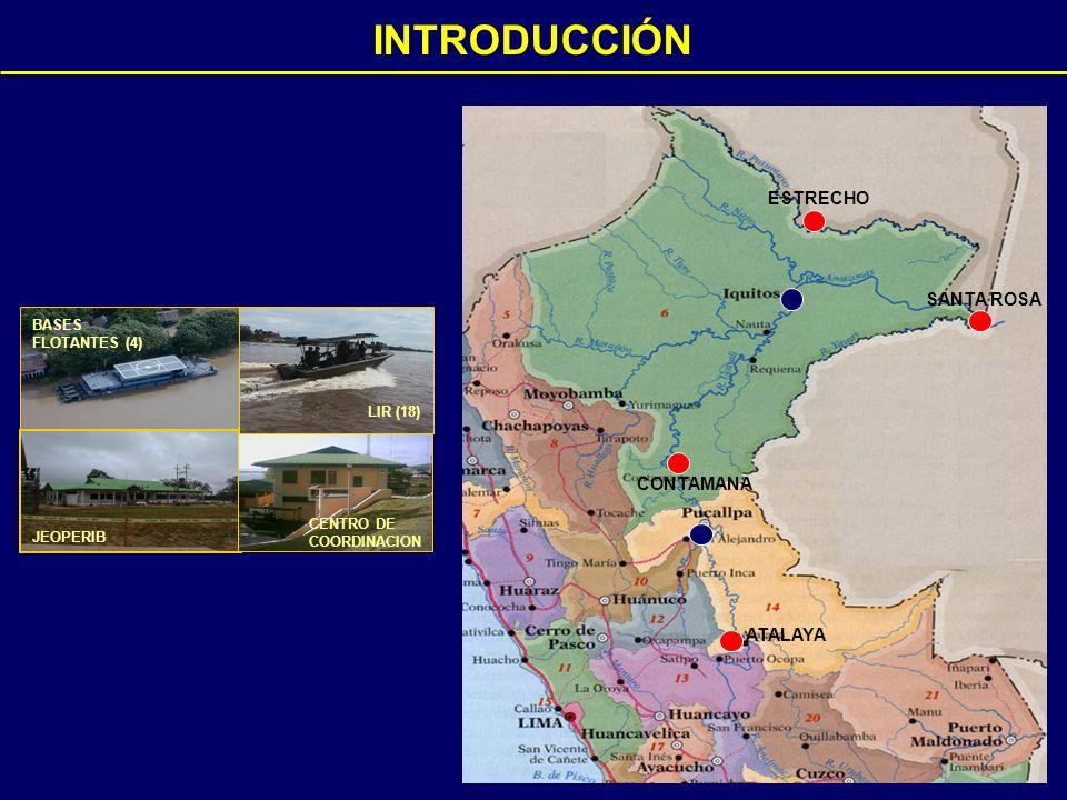 INTRODUCCIÓN BASES FLOTANTES (4) JEOPERIB CENTRO DE COORDINACION LIR (18) ESTRECHO SANTA ROSA ATALAYA CONTAMANA