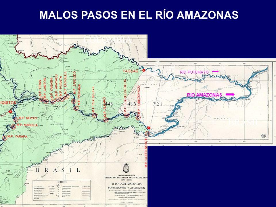 IQUITOS YAGUAS RIO PUTUMAYO RIO AMAZONAS MALOS PASOS EN EL RÍO AMAZONAS BRASIL COLOMBIA M.P.