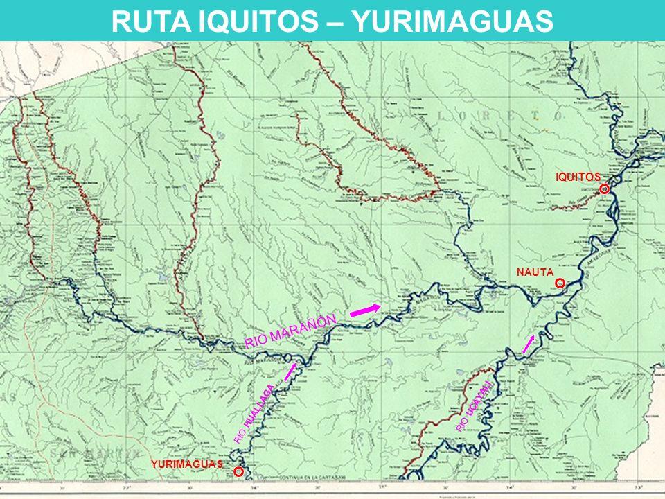 RUTA IQUITOS – YURIMAGUAS YURIMAGUAS NAUTA IQUITOS RIO MARAÑÓN RIO HUALLAGA RIO UCAYALI