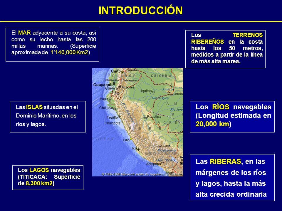 MAR El MAR adyacente a su costa, así como su lecho hasta las 200 millas marinas.