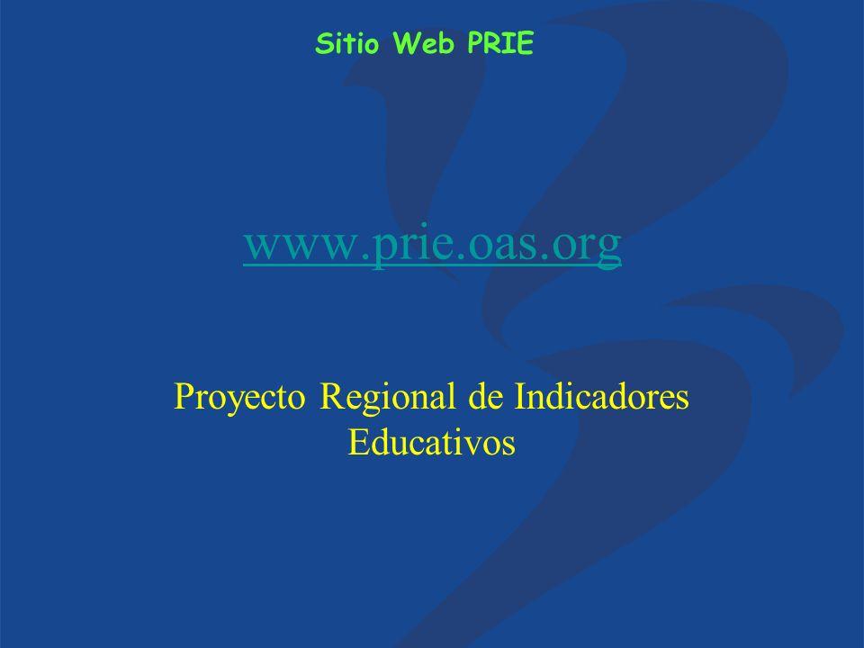 www.prie.oas.org Proyecto Regional de Indicadores Educativos