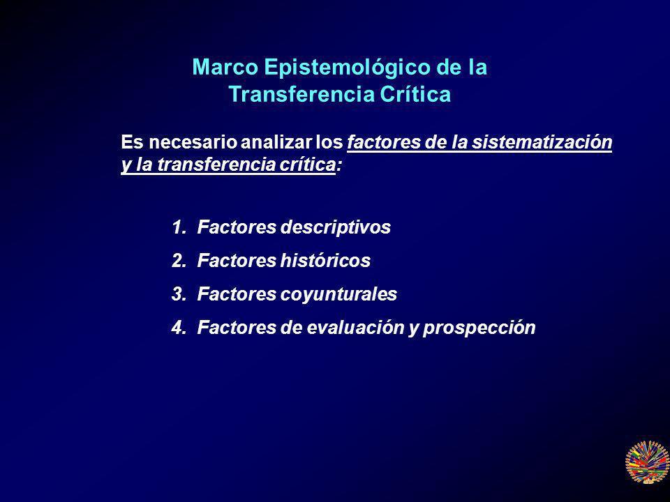 1. Factores descriptivos 2. Factores históricos 3.