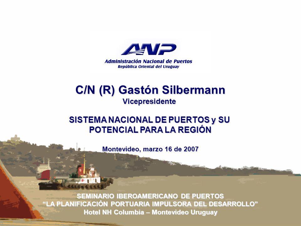 Sistema Nacional de Puertos Sistema Nacional de Puertos(SNP) Nueva concepción para nuestro País, sobre la forma de administrar y desarrollar los puertos del Uruguay y su inserción en la región.