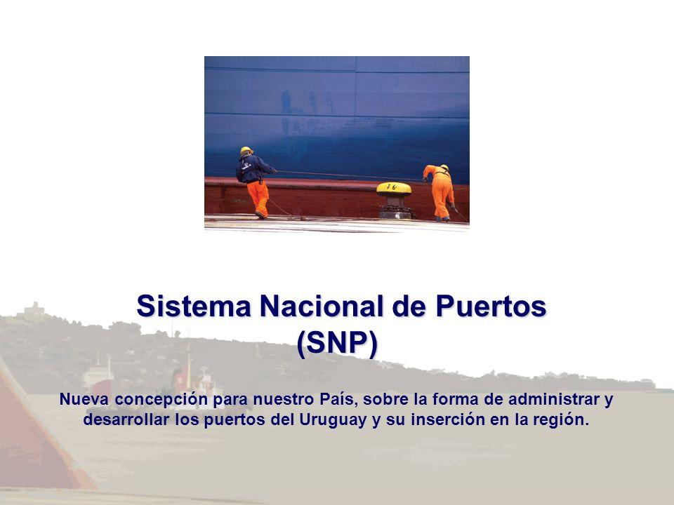 Sistema Nacional de Puertos Sistema Nacional de Puertos(SNP) Nueva concepción para nuestro País, sobre la forma de administrar y desarrollar los puert