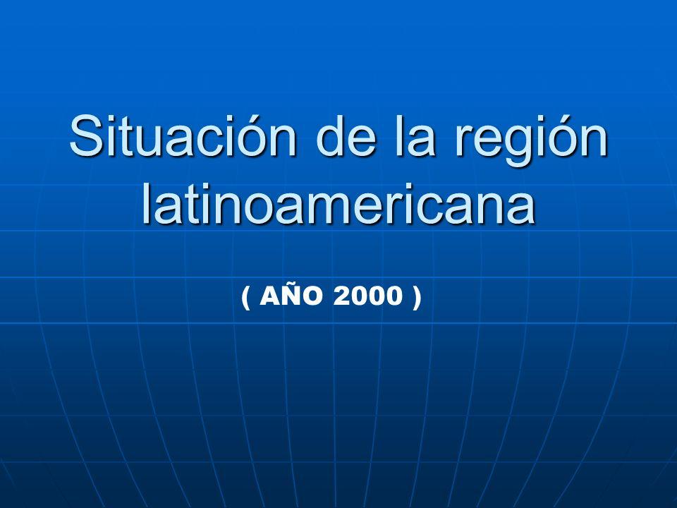 Situación de la región latinoamericana ( AÑO 2000 )