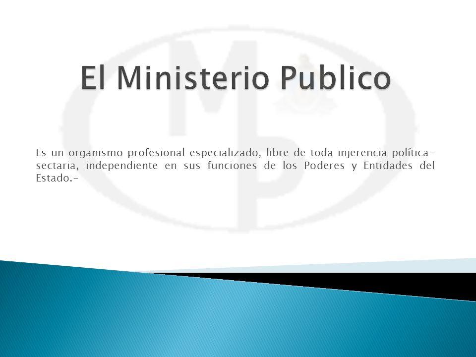 Es un organismo profesional especializado, libre de toda injerencia política- sectaria, independiente en sus funciones de los Poderes y Entidades del