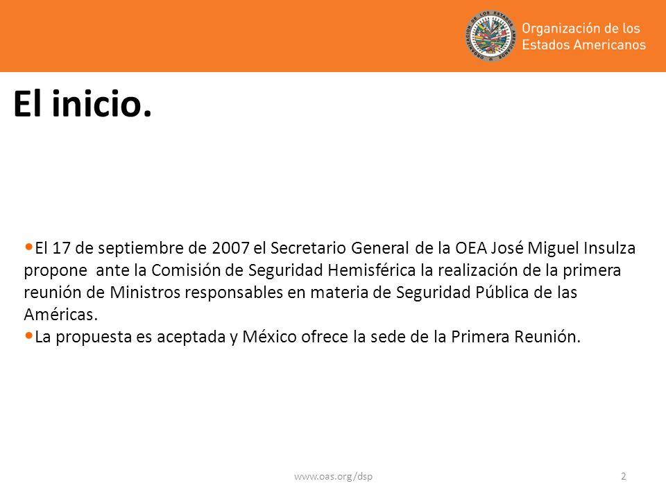 www.oas.org/dsp2 El inicio.