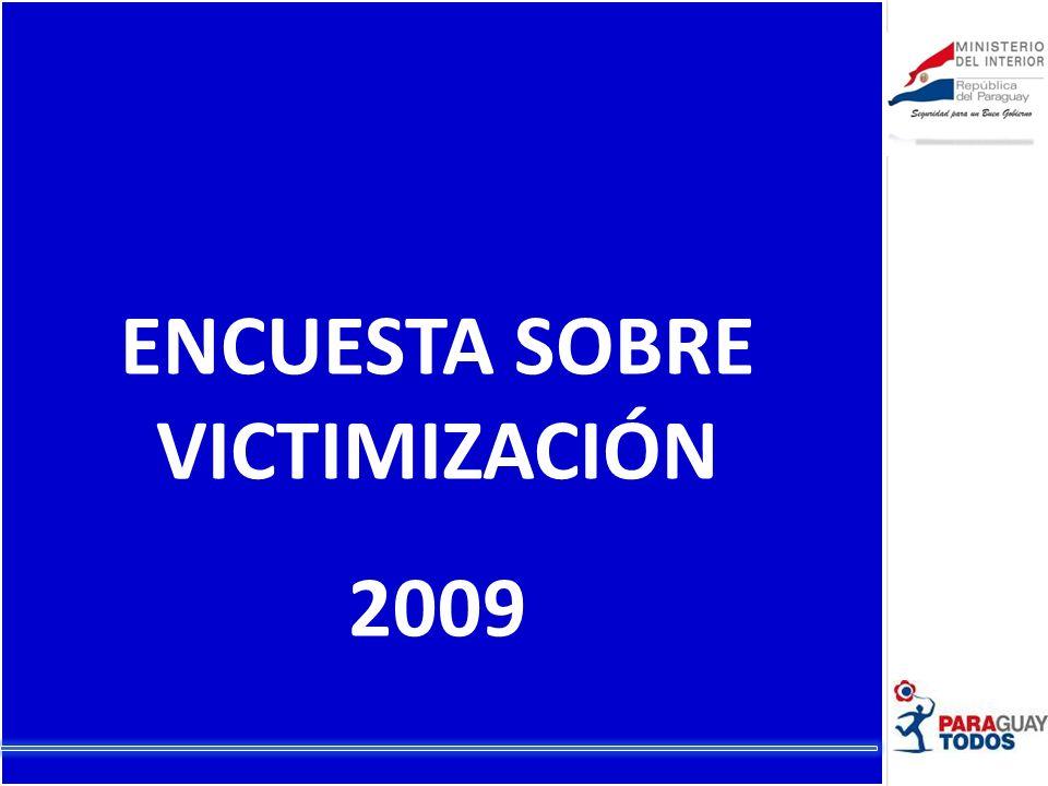 ENCUESTA SOBRE VICTIMIZACIÓN 2009