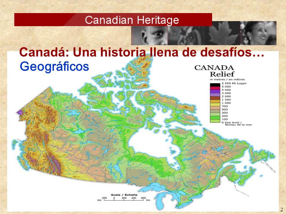 1 Desafíos de Canadá: Geográficos Lingüísticos Culturales La brecha urbana/rural Los pueblos aborígenes de Canadá La juventud de Canadá El camino por
