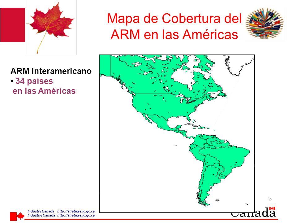 Industry Canada http:/ /strategis.ic.gc.ca Industrie Canada http:/ /strategis.ic.gc.ca 3 26 de septiembre de 2003, CCP.1 Taller ARM ARM Interamericano (CITEL) Aprobado por CITEL CCP.1, noviembre 1999 Adoptado por COM/CITEL, diciembre1999 No obligatorio, acuerdo Similar a APEC TEL ARM Multilateral, telecom, radio, EMC, y seguridad eléctrica Implementación a iniciarse en 2000