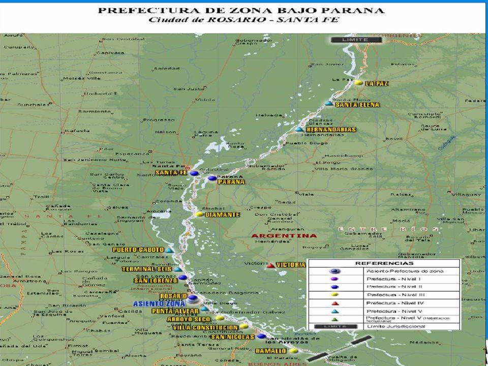 LA JURISDICCION DE LA PREFECTURA DE ZONA BAJO PARANA ABARCA 510 KM. DESDE EL KM. 300,5 AL 810 DEL RIO PARANA,SIENDO ESTA FRANJA DE RESPONSABILIDAD EL