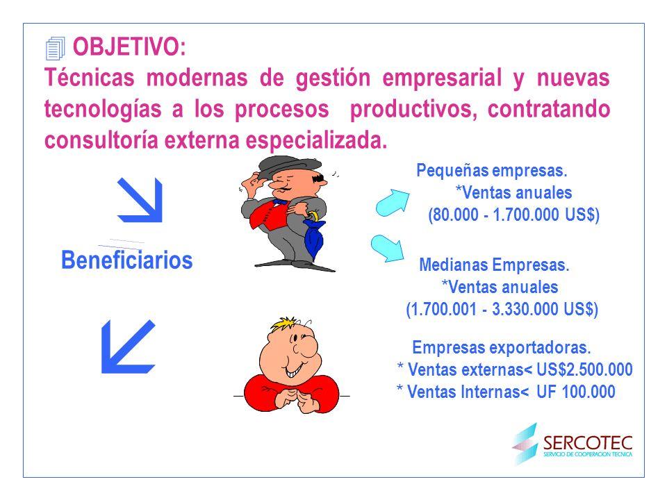 4 OBJETIVO: Técnicas modernas de gestión empresarial y nuevas tecnologías a los procesos productivos, contratando consultoría externa especializada. B