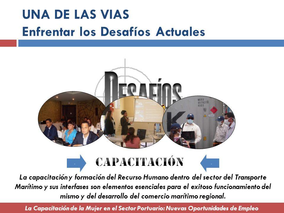 UNA DE LAS VIAS Enfrentar los Desafíos Actuales.. La capacitación y formación del Recurso Humano dentro del sector del Transporte Marítimo y sus inter