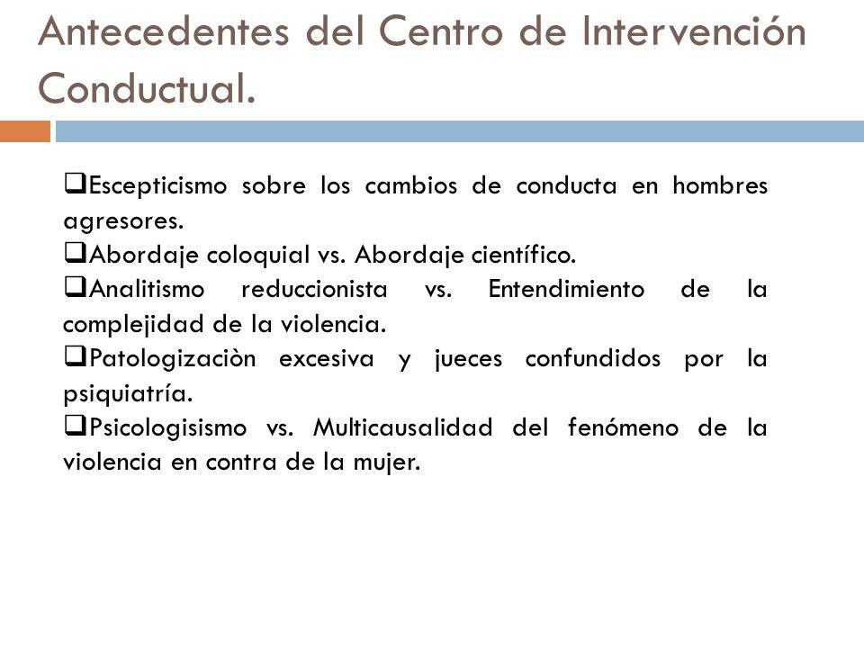 Creación y finalidad del Centro de Intervención Conductual para Hombres.