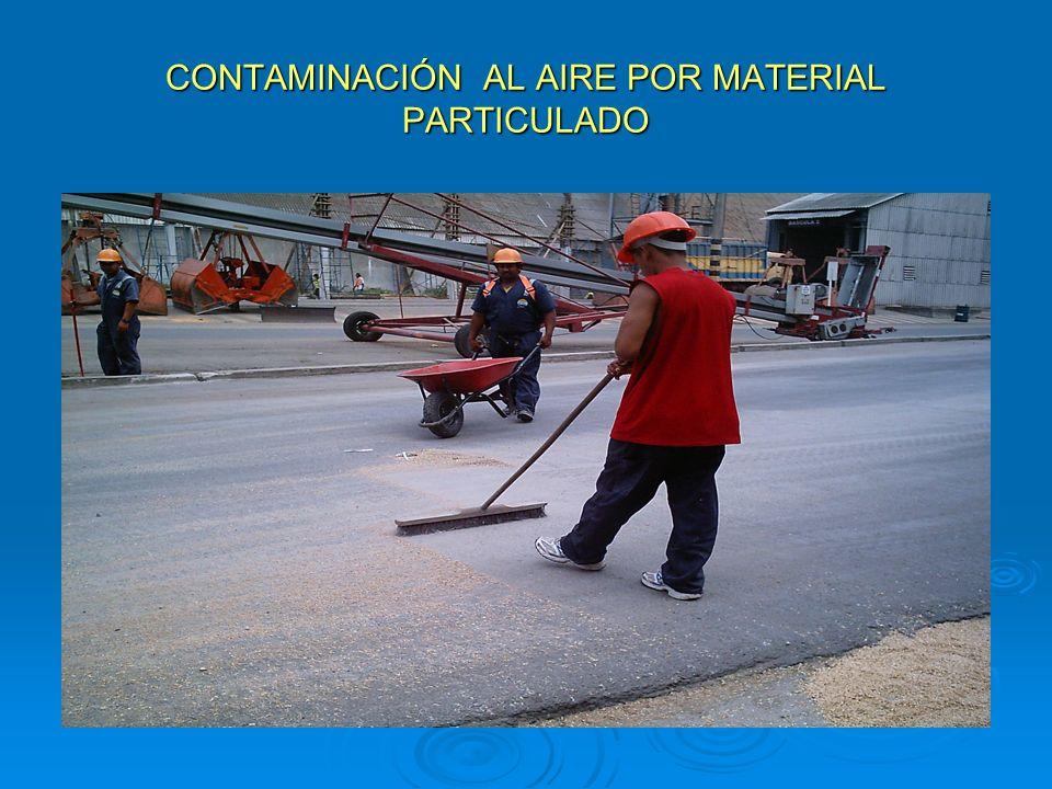 CONTAMINACIÓN AL AIRE POR MATERIAL PARTICULADO Y DRENAJES