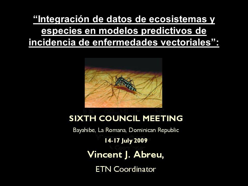 Integración de datos de ecosistemas y especies en modelos predictivos de incidencia de enfermedades vectoriales: