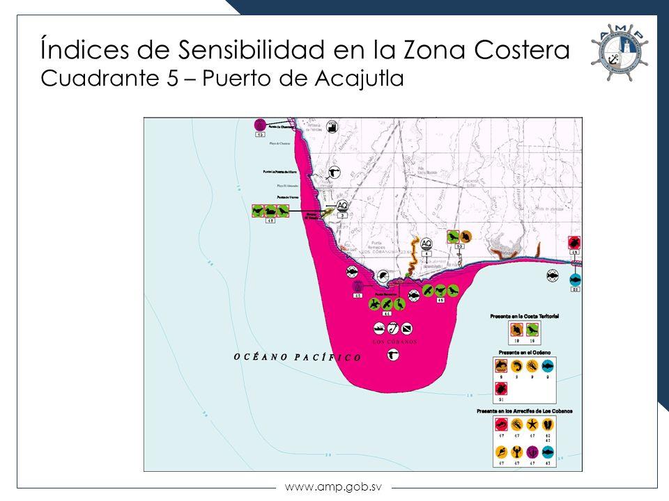 www.amp.gob.sv Índices de Sensibilidad en la Zona Costera Cuadrante 5 – Puerto de Acajutla