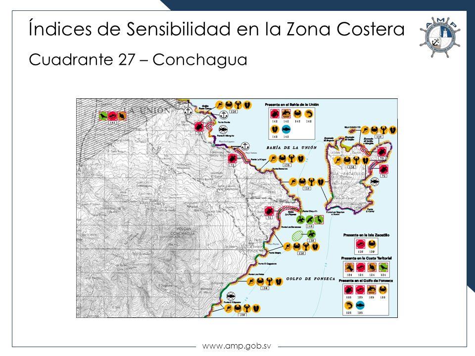 www.amp.gob.sv Índices de Sensibilidad en la Zona Costera Cuadrante 27 – Conchagua