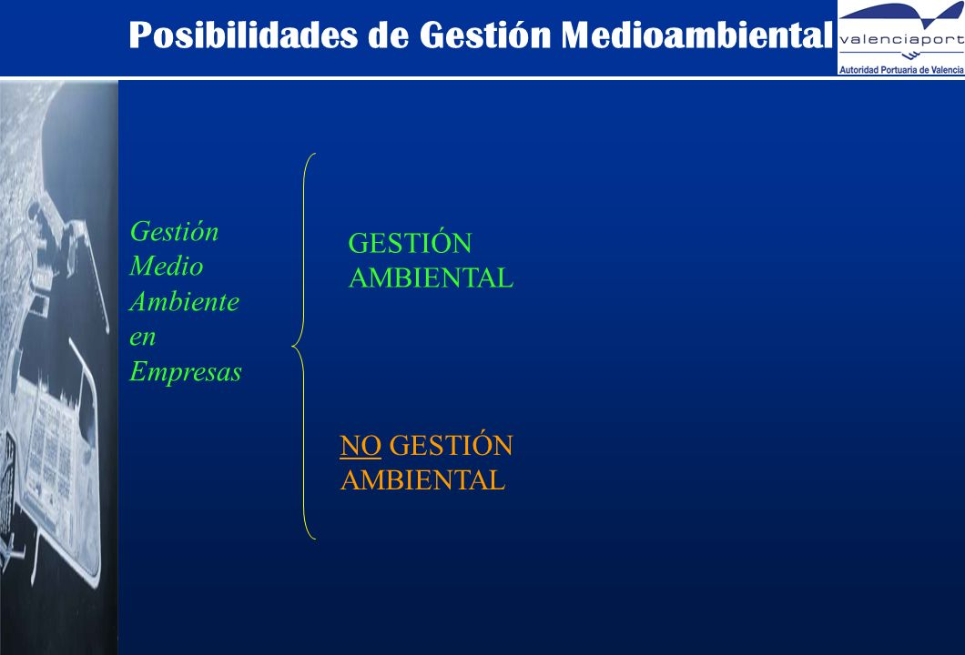 Posibilidades de Gestión Medioambiental Gestión Medio Ambiente en Empresas GESTIÓN AMBIENTAL NO GESTIÓN AMBIENTAL