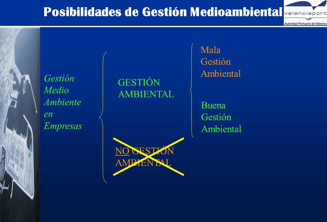 Posibilidades de Gestión Medioambiental Gestión Medio Ambiente en Empresas GESTIÓN AMBIENTAL NO GESTIÓN AMBIENTAL Mala Gestión Ambiental Buena Gestión Ambiental