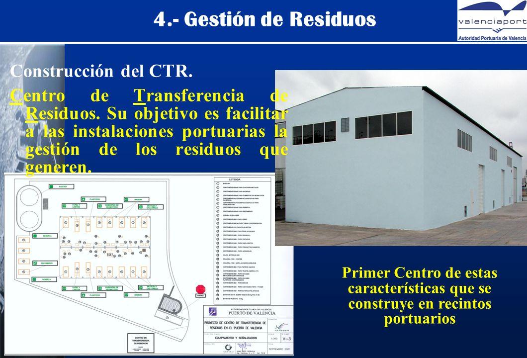 4.- Gestión de Residuos Construcción del CTR. Centro de Transferencia de Residuos.