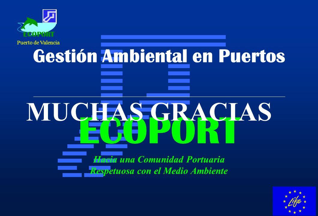 ECOPORT Hacia una Comunidad Portuaria Respetuosa con el Medio Ambiente Gestión Ambiental en Puertos ECOPORT Puerto de Valencia MUCHAS GRACIAS