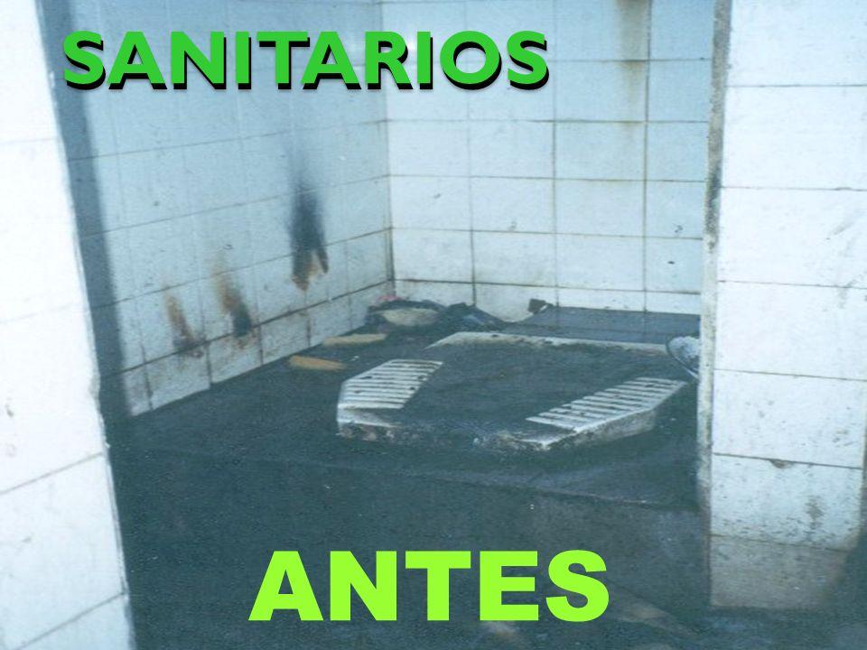 SANITARIOSSANITARIOS ANTES
