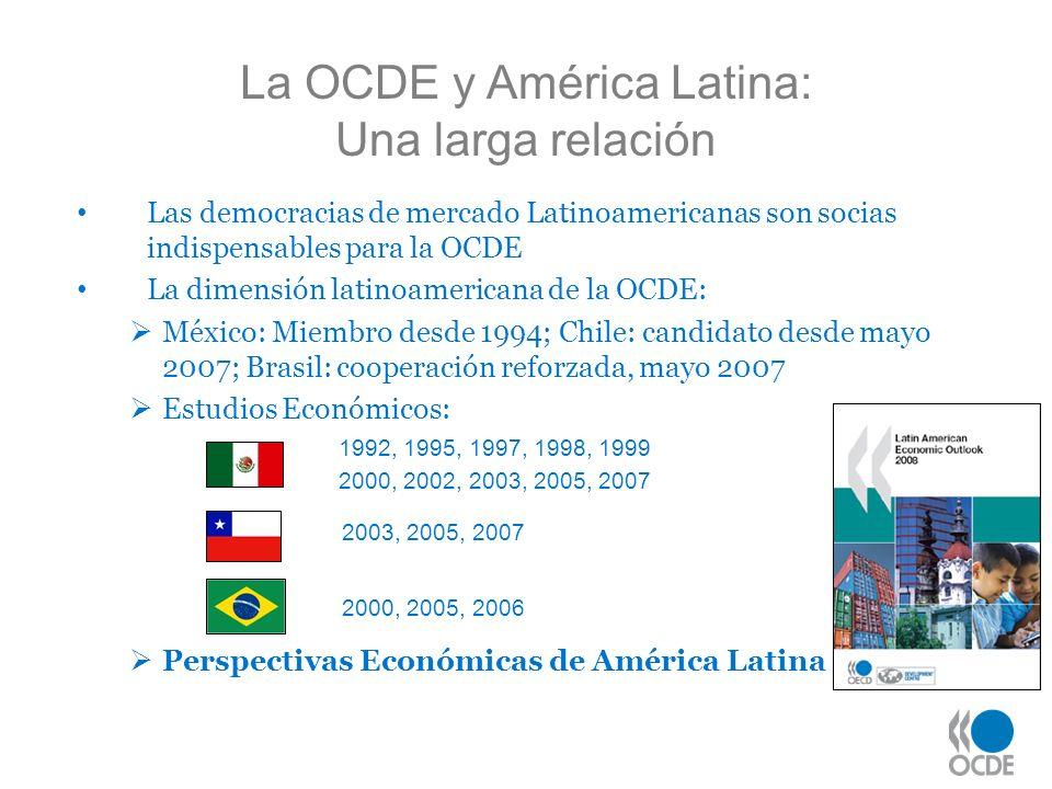 La OCDE y América Latina: Una larga relación Las democracias de mercado Latinoamericanas son socias indispensables para la OCDE La dimensión latinoame