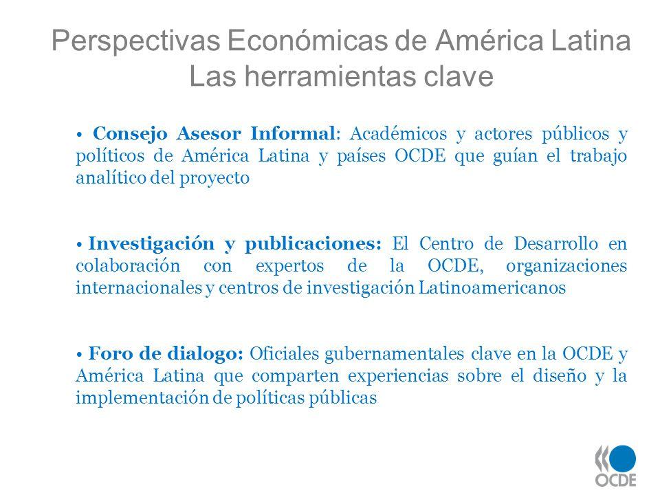 Perspectivas Económicas de América Latina Las herramientas clave Consejo Asesor Informal: Académicos y actores públicos y políticos de América Latina