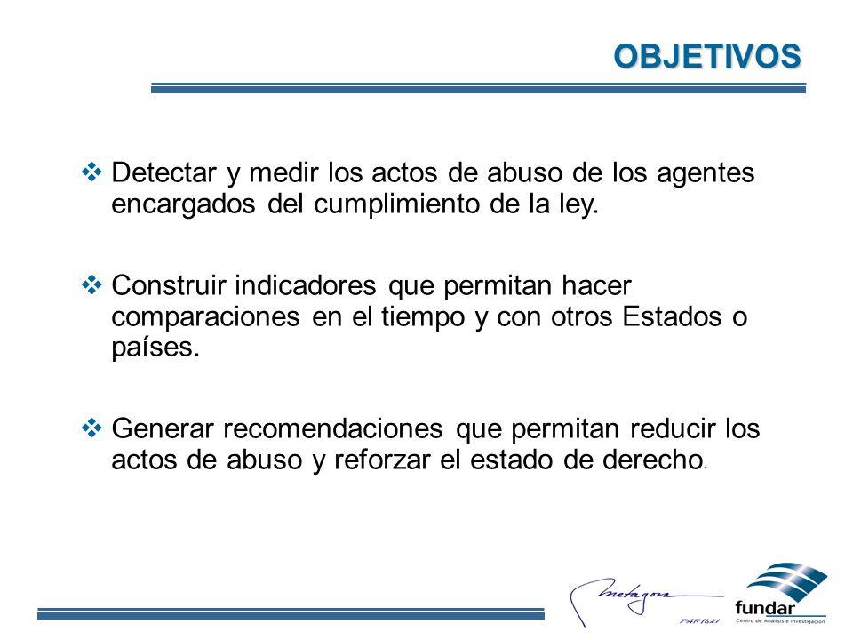Detectar y medir los actos de abuso de los agentes encargados del cumplimiento de la ley.