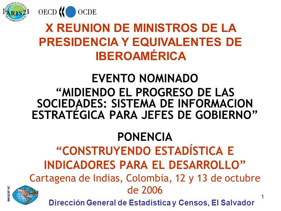 1 PONENCIA CONSTRUYENDO ESTADÍSTICA E INDICADORES PARA EL DESARROLLO Cartagena de Indias, Colombia, 12 y 13 de octubre de 2006 EVENTO NOMINADO MIDIEND