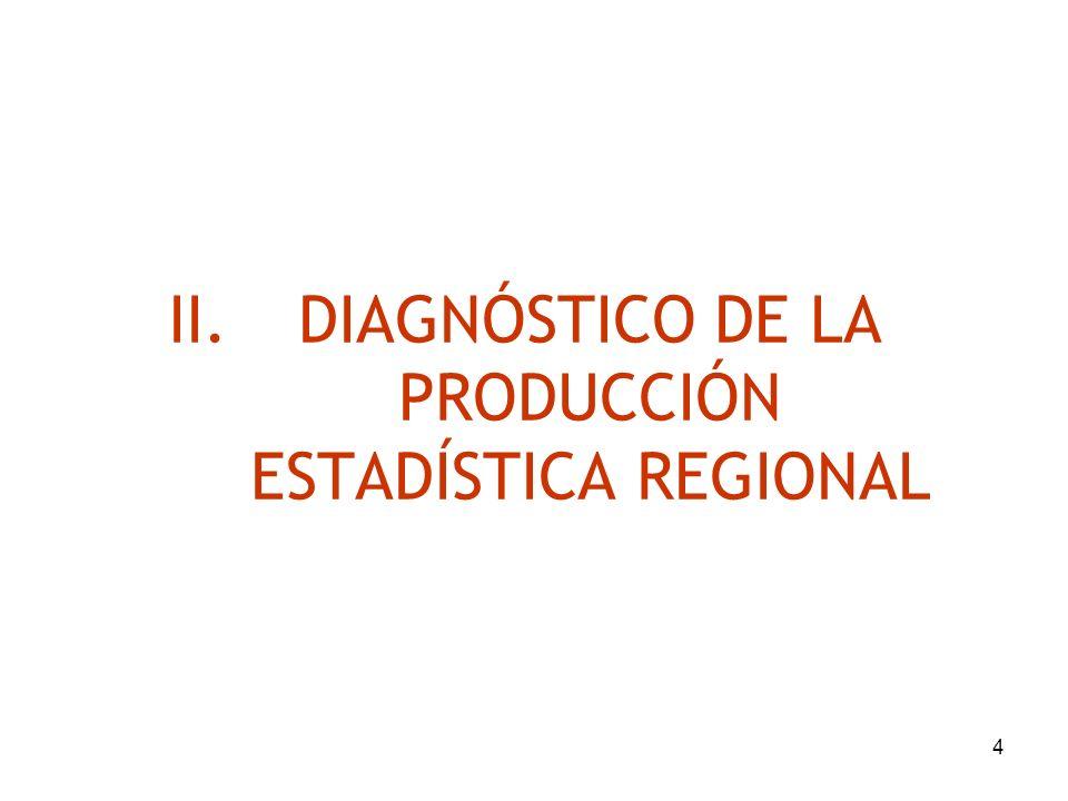 4 II.DIAGNÓSTICO DE LA PRODUCCIÓN ESTADÍSTICA REGIONAL
