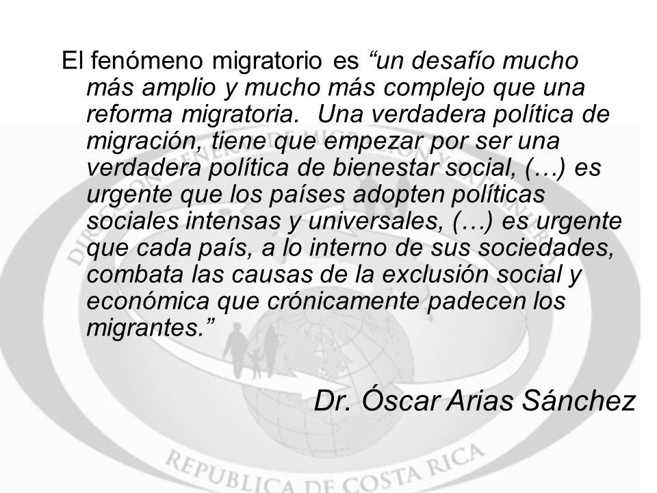El fenómeno migratorio es un desafío mucho más amplio y mucho más complejo que una reforma migratoria.
