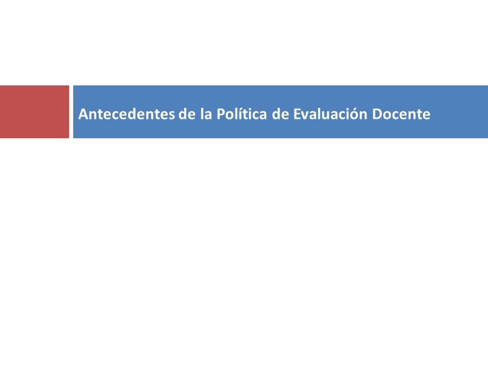 Antecedentes de la Política de Evaluación Docente