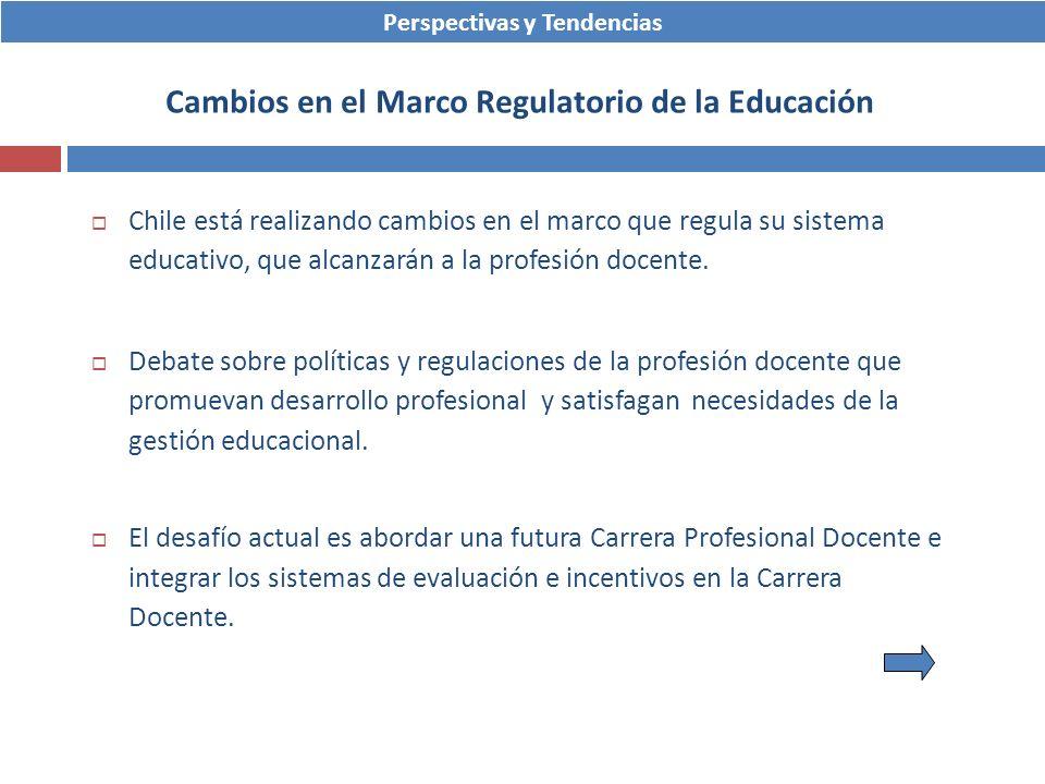 Chile está realizando cambios en el marco que regula su sistema educativo, que alcanzarán a la profesión docente. Debate sobre políticas y regulacione