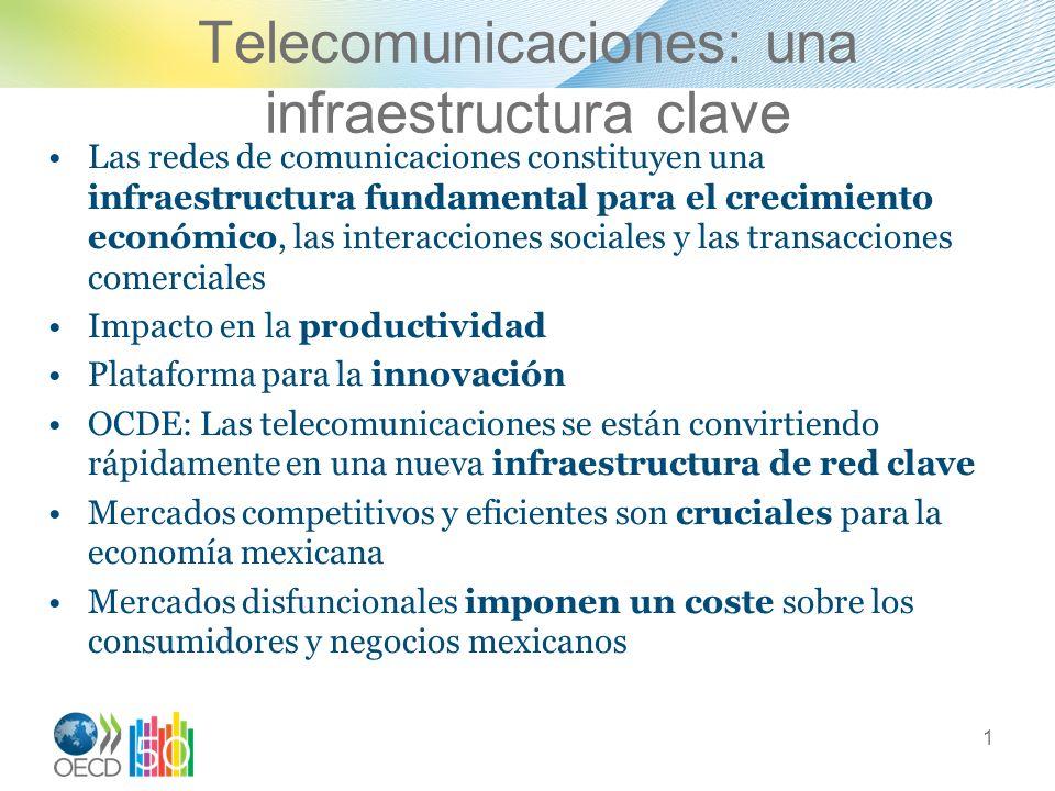 Telecomunicaciones: una infraestructura clave Las redes de comunicaciones constituyen una infraestructura fundamental para el crecimiento económico, l